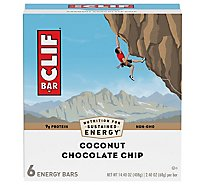 CLIF Energy Bar Coconut Chocolate Chip - 6-2.4 Oz