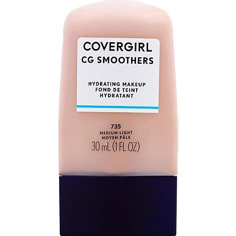 COVERGIRL CG Smoothers Hydrating Makeup Medium Light 735 - 1 Fl. Oz.