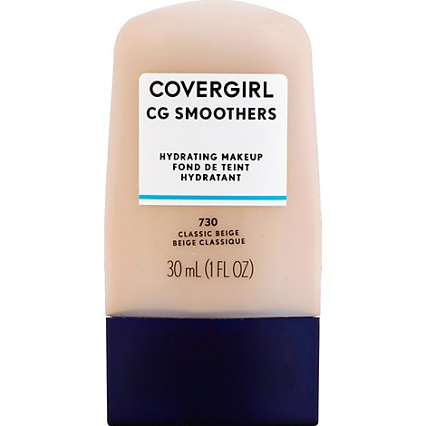 COVERGIRL CG Smoothers Hydrating Makeup Classic Beige 730 - 1 Fl. Oz.
