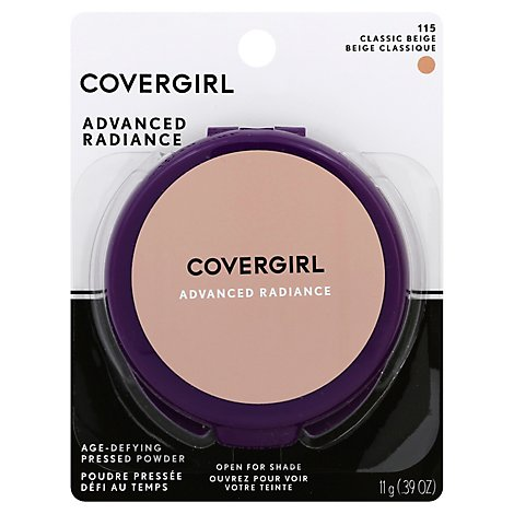 COVERGIRL Advanced Radiance Pressed Powder Age-Defying Classic Beige 115 - 0.39 Oz