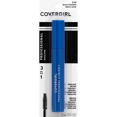 COVERGIRL Professional Mascara 3-in-1 Black Brown 210 - 0.3 Fl. Oz.