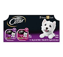 Cesar Classics Canine Cuisine In Meaty Juices Porterhouse Steak Filet Mignon Box - 12-3.5 Oz