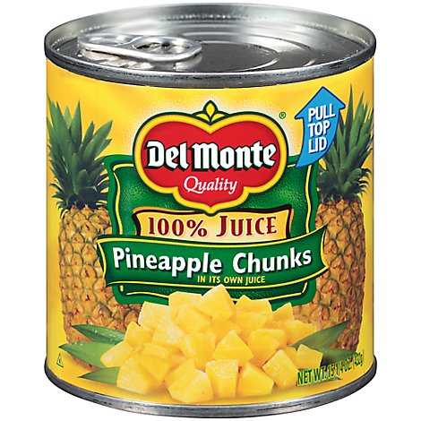 Del Monte Juice Pineapple Chunks Natural - 15.25 Oz