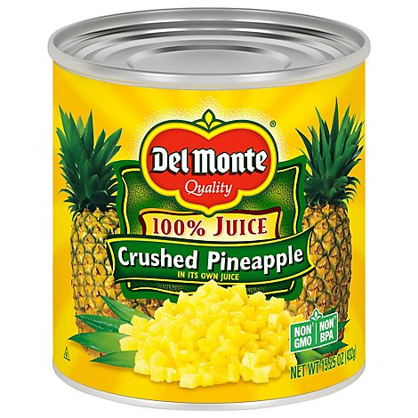 Del Monte Juice Pineapple Crushed Natural - 15.25 Oz