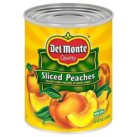 Del Monte Peaches Sliced in Heavy Syrup - 29 Oz