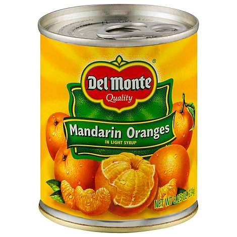 Del Monte Mandarin Oranges in Light Syrup - 8.25 Oz