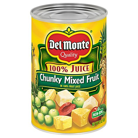 Del Monte Mixed Fruit Chunky in 100% Juice - 15 Oz