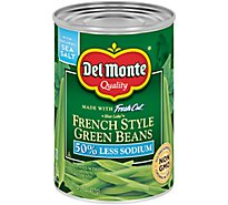 Del Monte Green Beans Blue Lake French Style 50% Less Sodium - 14.5 Oz
