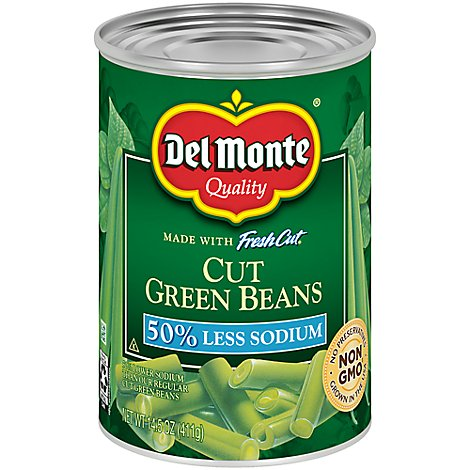 Del Monte Fresh Cut Green Beans Cut Blue Lake 50% Less Sodium - 14.5 Oz