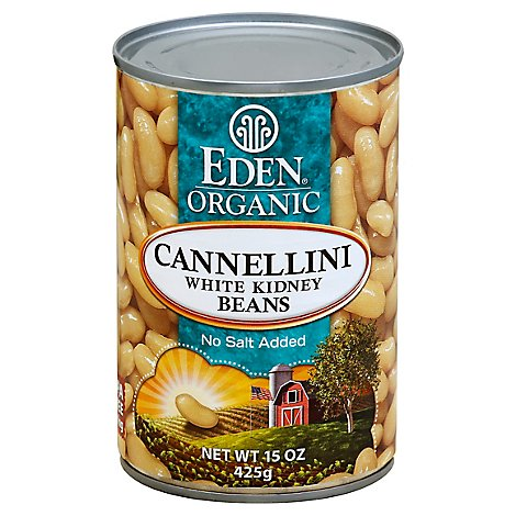Eden Organic Beans No Salt Added Kidney White Cannellini - 15 Oz