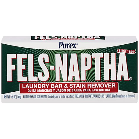 Purex Fels Naptha Laundry Bar & Stain Remover Wrapper - 5 Oz