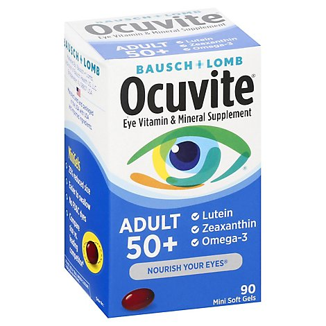 Ocuvite Eye Vitamin & Mineral Supplement Adult 50+ - 90 Count
