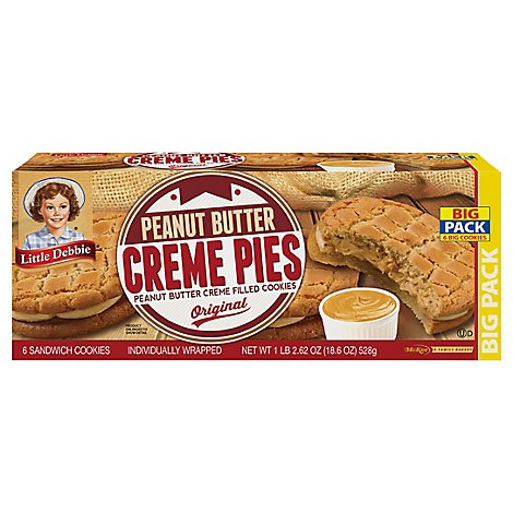 Lil Deb Pie Peanut Butter Cream - 18.4 Oz