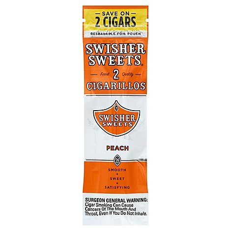 Swisher Swt Cgrlo Peach - 2 Package