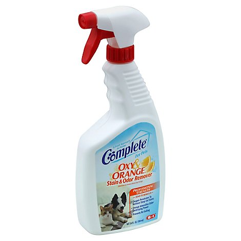 Complete Stain & Odor Remover For Pets Oxy & Orange Bottle - 24 Fl. Oz.