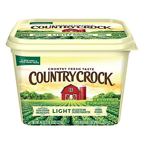 Country Crock Shedds Spread Buttery Spread 28% Vegetable Oil Light - 45 Oz.