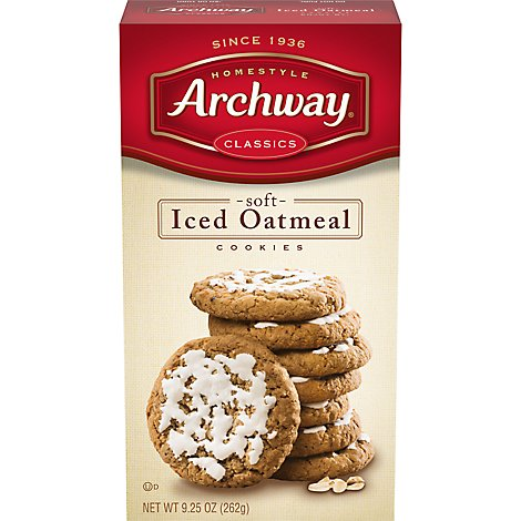 Archway Homestyle Classics Cookies Soft Iced Oatmeal - 9.25 Oz