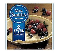 Mrs. Smiths Pie Crusts Flaky Deep Dish 9 Inch 2 Count - 16 Oz