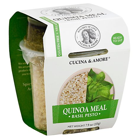 Cucina & Amore Quinoa Meal Basil Pesto Box - 7.9 Oz