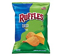 Ruffles Potato Chips Queso Cheese Flavored - 8.5 Oz