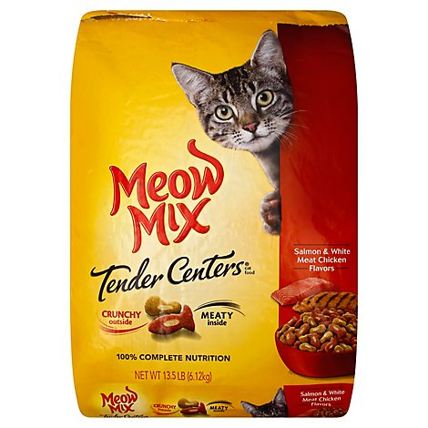 Meow Mix Tender Centers Cat Food Dry Salmon & White Meat Chicken - 13.5 Lb