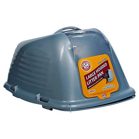 ARM & HAMMER Litter Pan Hooded Large Limits Odor And Scatter - Each