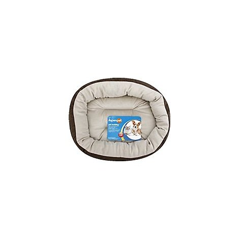Aspen Pet Bed Round With Elliptical Bloster 18 Inch - Each
