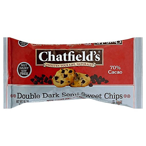 Chatfields Chips Semi-Sweet Double Dark 70% Cacao - 10 Oz