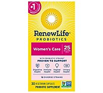 ReNew Life Ultimate Flora Probiotic Supplement Vegetable Capsules Womens Care - 30 Count