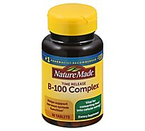 Nature Made Balanced B-100 Time Release Tablets - 60 Count