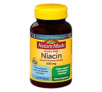 Nature Made Niacin 500mg Liquid Softgel - 60 Count