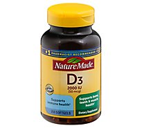 Nature Made Vitamin D 2000 Iu Softgel Value Size - 250 Count