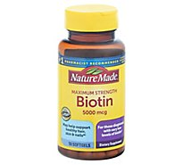 Nature Made Biotin 5000 Mcg Liq Softgel - 50 Count