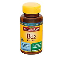 Nature Made Dietary Supplement Softgels Vitamin B-12 1000 mcg - 90 Count