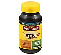 Nature Made Herbal Supplement Capsules Turmeric Curcumin - 60 Count