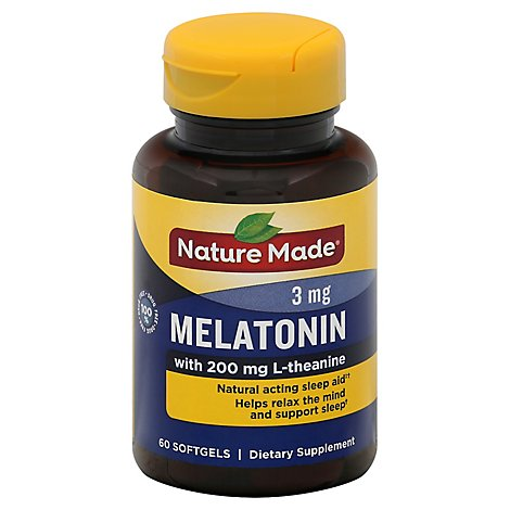 Nature Made Melatonin Plus L Theaning Softgels - 60 Count