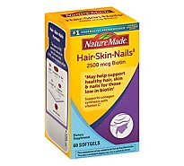 Nature Made Hair Skin & Nails Softgels - 60 Count