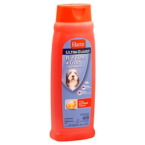 Hartz Ultra Guard Dog Shampoo Rid Flea & Tick Fresh Citrus - 18 Fl. Oz.