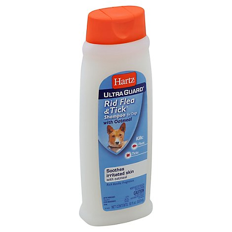 Hartz UltraGuard Flea & Tick Rid Shampoo For Dogs Vanilla Fragrance Bottle - 18 Fl. Oz.