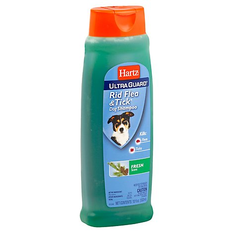 Hartz UltraGuard Flea & Tick Rid Shampoo For Dogs Fresh Scent Bottle - 18 Fl. Oz.