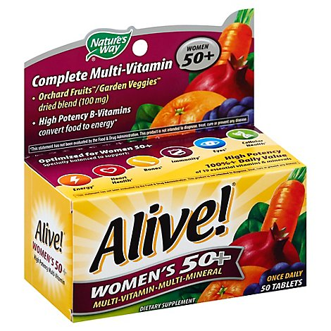 Natures Way Alive! Multi-Vitamin Multi-Mineral Tablets Womens 50+ - 50 Count