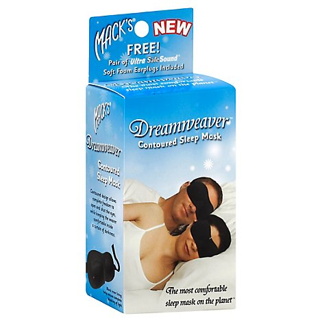 Macks Dreamweaver Cont Sleep Mask Blk - Each