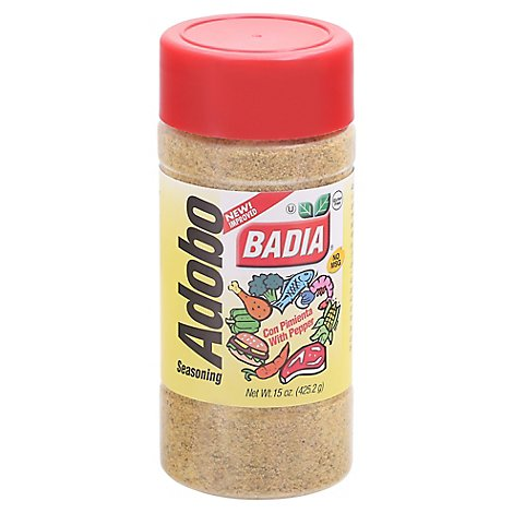 Badia Seasoning Adobo with Pepper Bottle - 15 Oz