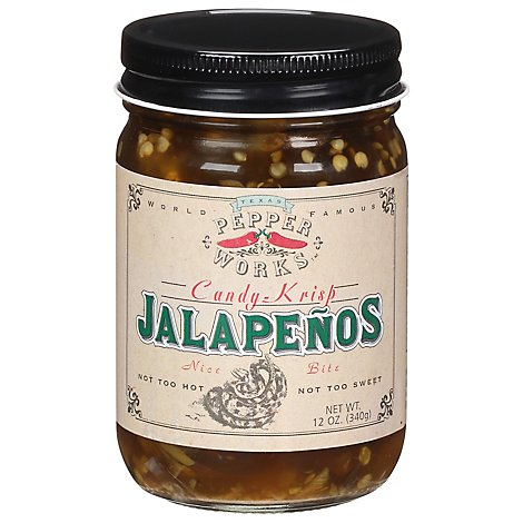Texas Pepper Works Pepper Jalapenos Candy-Krisp - 12 Fl. Oz.