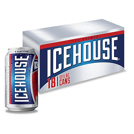 Icehouse Lager Beer Cans 5.5% ABV - 18-12 Fl. Oz.