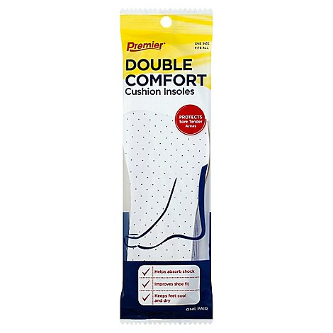 Premier Insoles Double Thick Unisex - Each