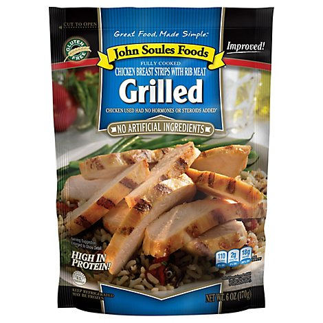 John Soules Grilled Chicken Breast Strips - 6 Oz