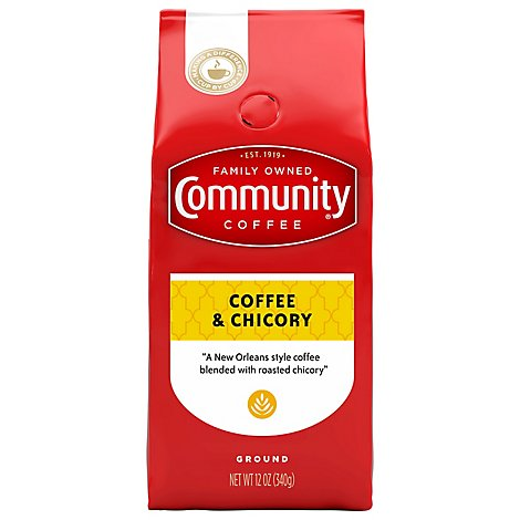 Community Coffee Coffee & Chicory Ground New Orleans Blend - 12 Oz