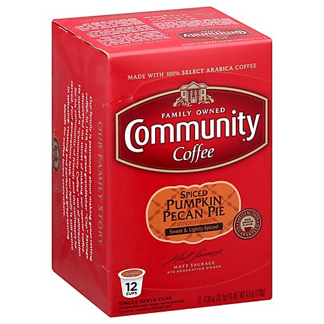 Community Coffee Coffee K-Cup Pods Pumpkin Praline - 12 Count