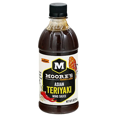 Moores Sauce Wing Asian Teriyaki - 16 Fl. Oz.
